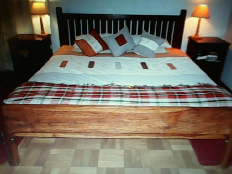 Teak king size bed for sale harare for Outdoor furniture zimbabwe